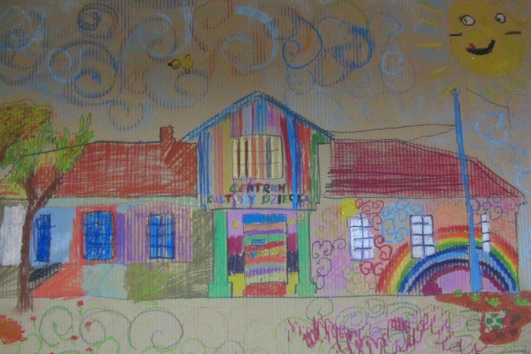 Centrum Kultury Dziecka w Zgierzu - rysunek siedziby CKD