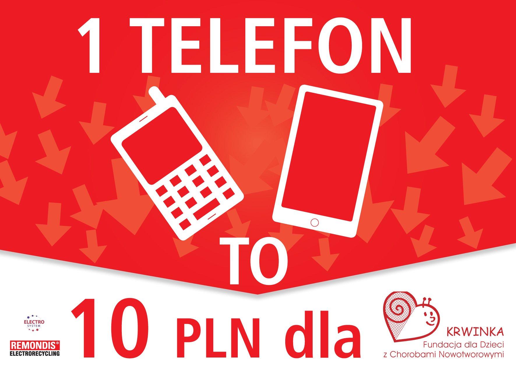 Fundacja Krwinka zbiera używane telefony