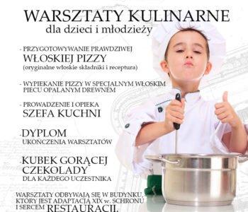 warsztaty kulinarne dla dzieci w restauracji Fortezza