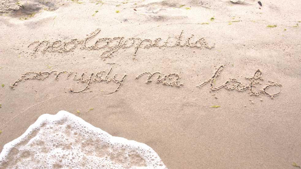 Neologopedia - pomysły na lato - rysowanie na piasku