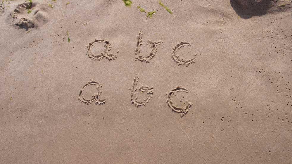 Pomysły-na-zabawę na plaży - wzory grafomotoryczne