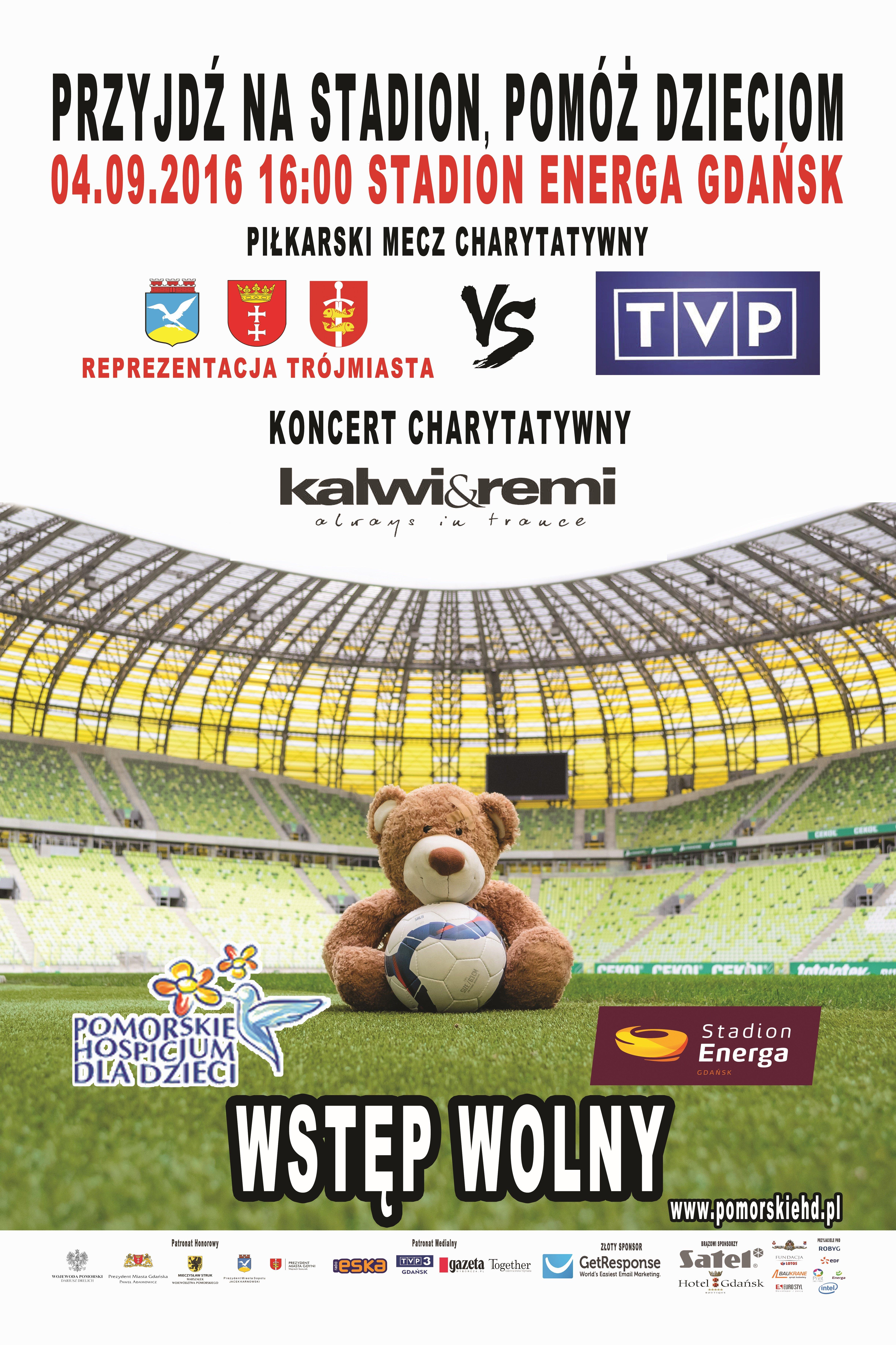 Przyjdź na stadion, pomóż dzieciom mecz charytatywny Gdańsk