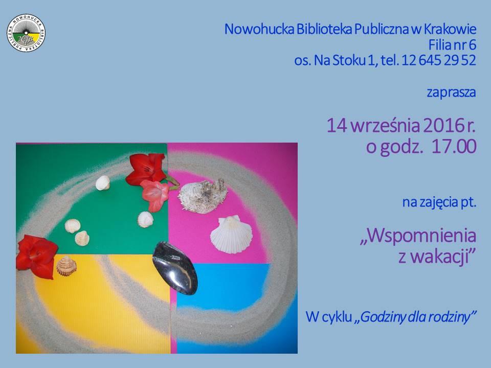 wspomnienia z wakacji warsztaty Kraków