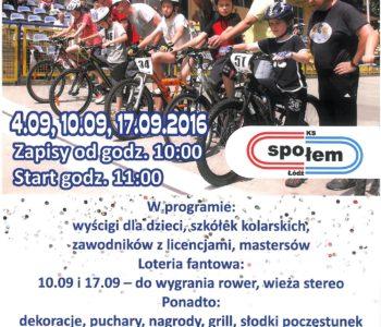 wrześniowe ściganie - zawody kolarskie dla dzieci Łódź