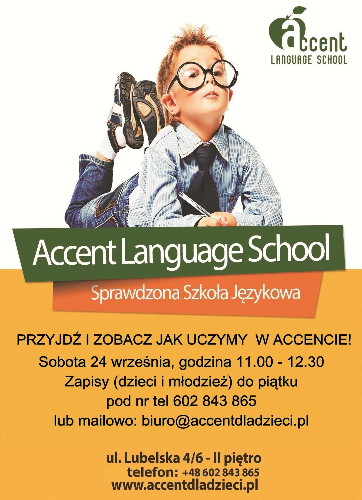 Zajęcia (gratisowe) z angielskiego w sobotę W Accencie