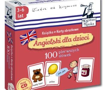 Angielski dla dzieci Karty Obrazkowe 100 pierwszych słówek
