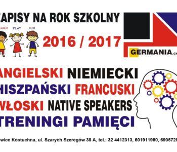 Kursy językowe Germania plakat