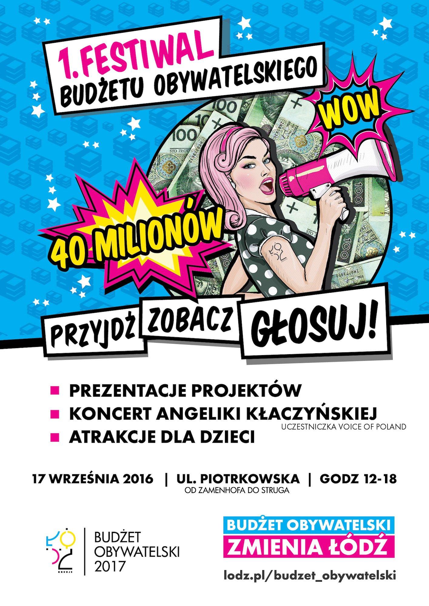 festiwal budżetu obywatelskiego w Łodzi 2016