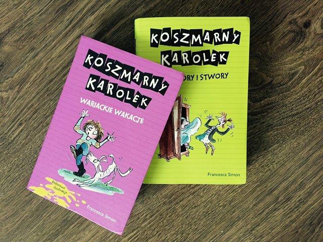 Recenzja książek z Koszmarnym Karolkiem