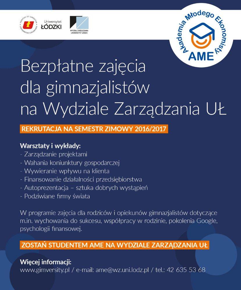 plakat Akademia Młodego Ekonomisty