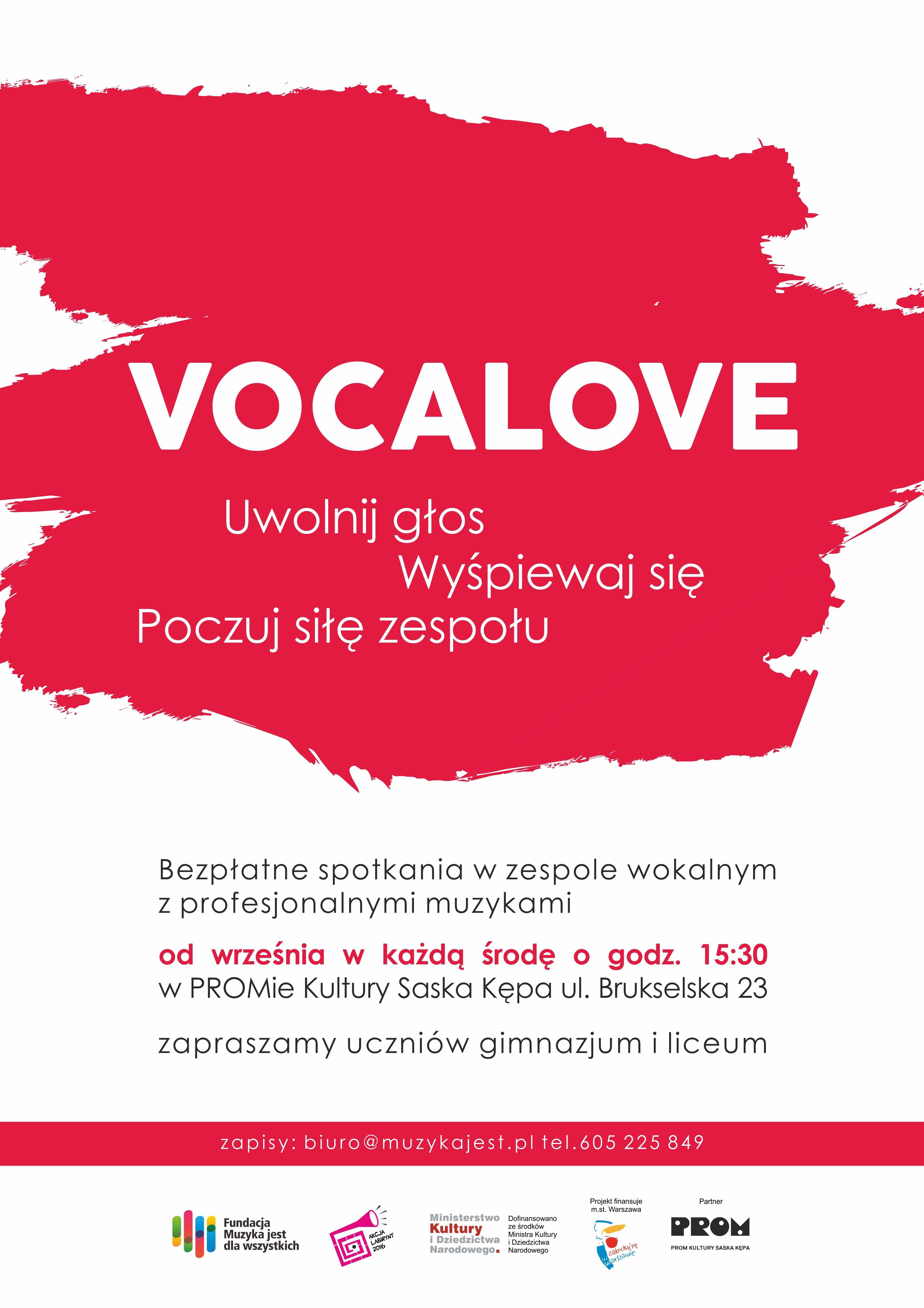 zajęcia wokalne dla młodzieży bezpłatne