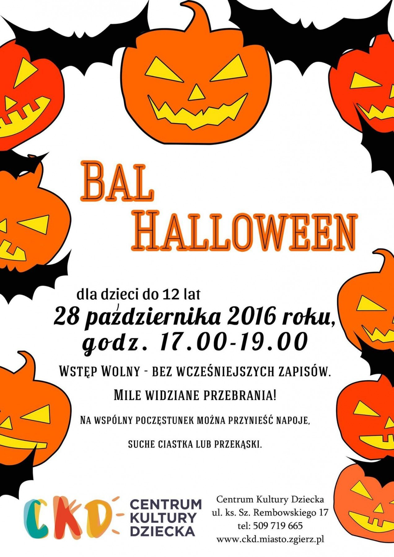 ckd zgierz bal halloween
