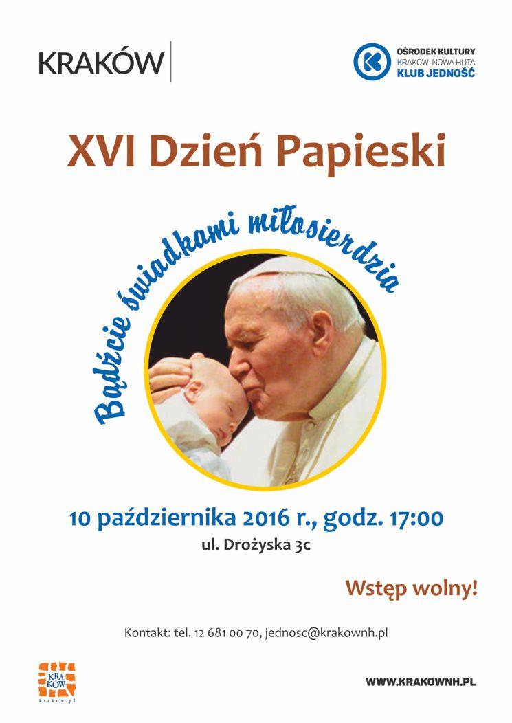 Dzień Papieski - Bądźcie świadkami miłosierdzia
