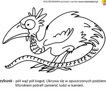 Bazyliszek kolorowanka