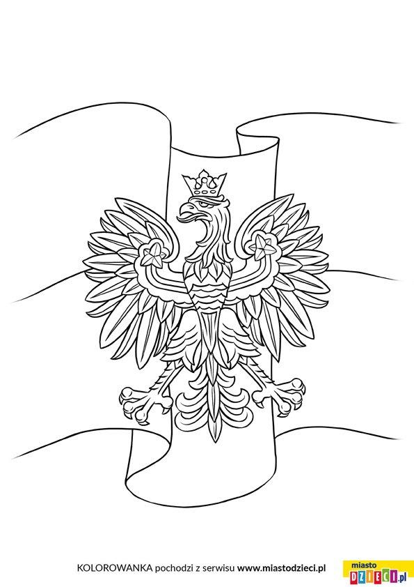 Godło Polski kolorowanka do druku