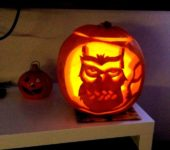 Dyniowe cuda na Halloween - lampion sowa - oryginalne lampiony na halloween