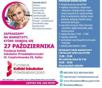 Projekt Świadoma mama Kalisz plakat