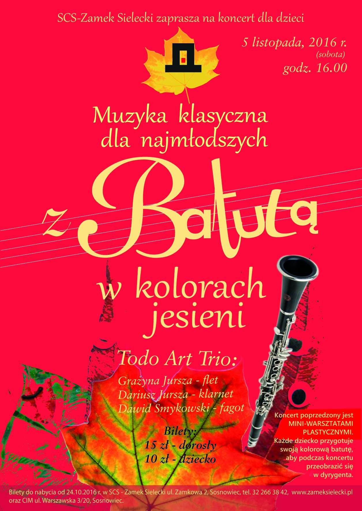koncert dla dzieci Sosnowiec plakat