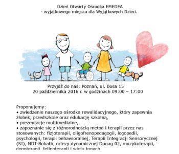 EMEDEA w Poznaniu dzień otwarty plakat