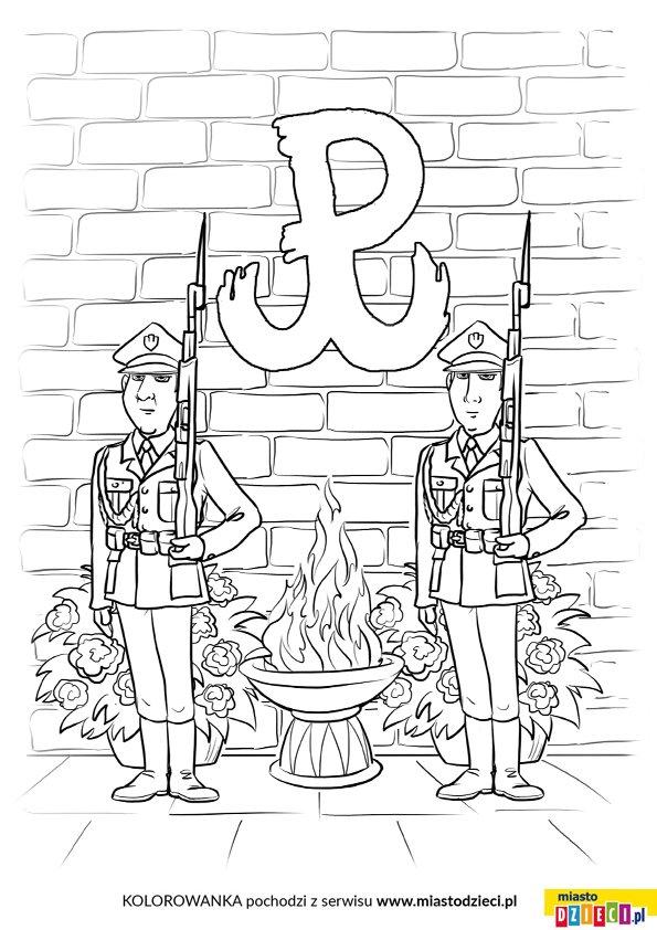 Kolorowanki patriotyczne powstanie warszawskie