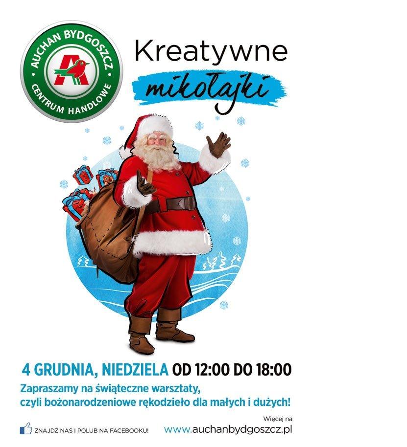 Przygotuj świąteczne dekoracje w CH Auchan w Bydgoszczy