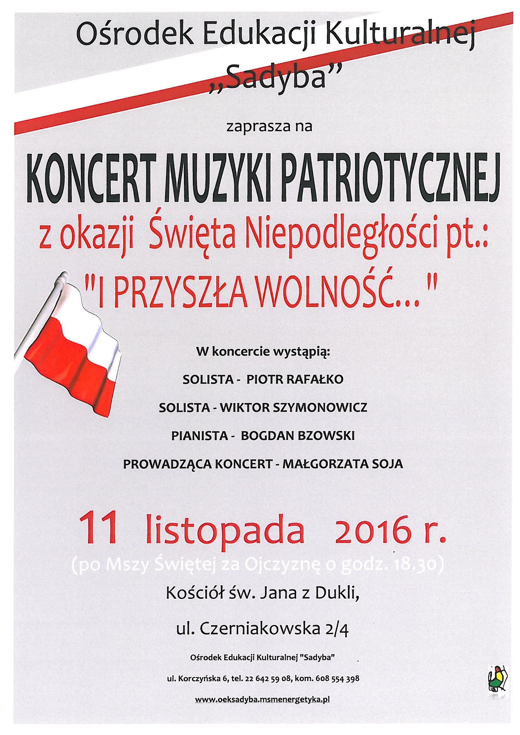 święto niepodległości koncert piosenki