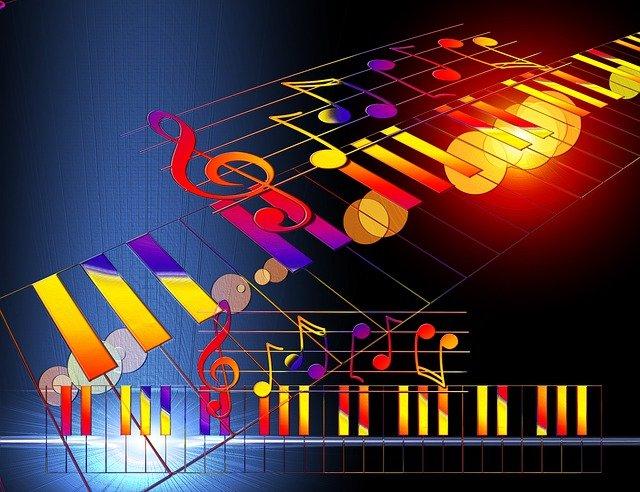 nuty klawisze muzyka