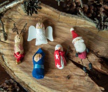 Orzeszkowe ozdoby świąteczne