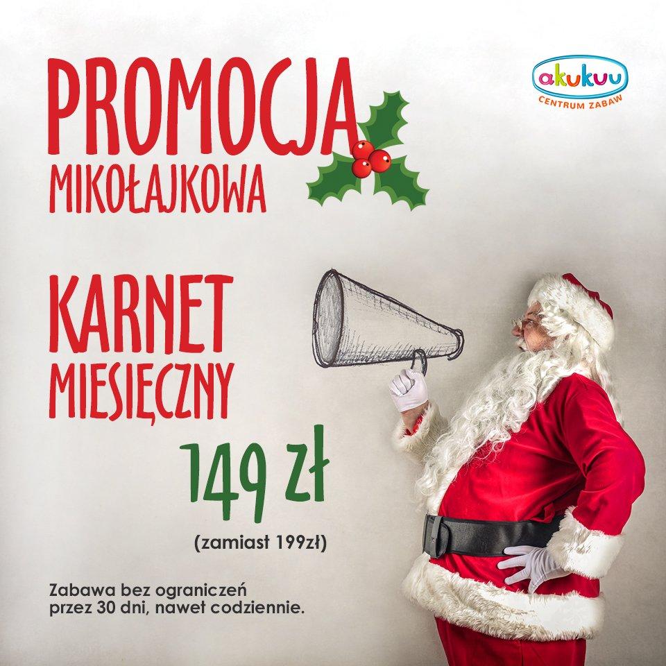 Promocja Mikołajkowa Akukuu
