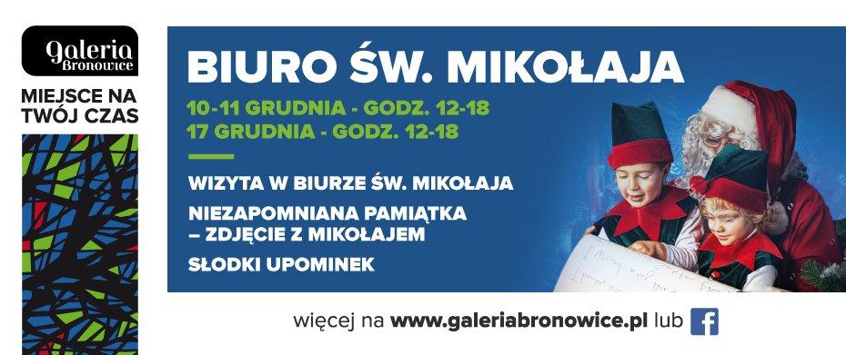 Św. Mikołaj odwiedzi Galerię Bronowice