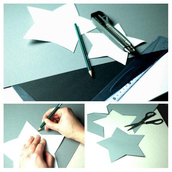 jak zrobić gwiazdkową dekorację