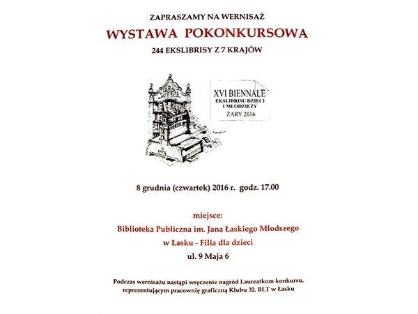 Ekslibrisy - wystawa z Żar w Łasku