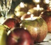 Lampiony świeczniki z jabłek