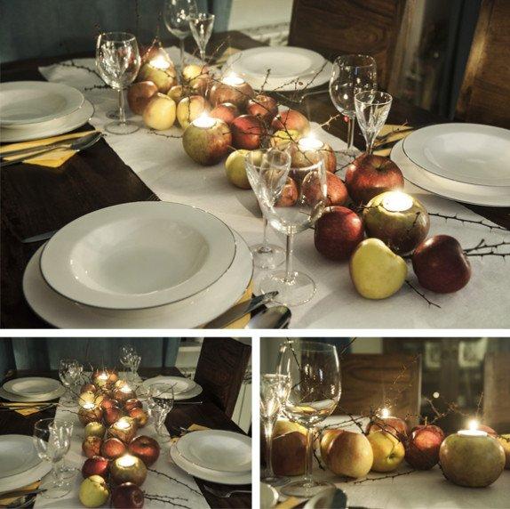 Lampiony z jabłek na swieta