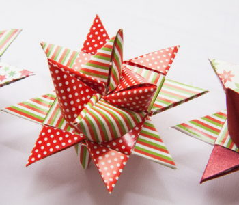 Origami gwiazdka na choinkę z papieru jak zrobić