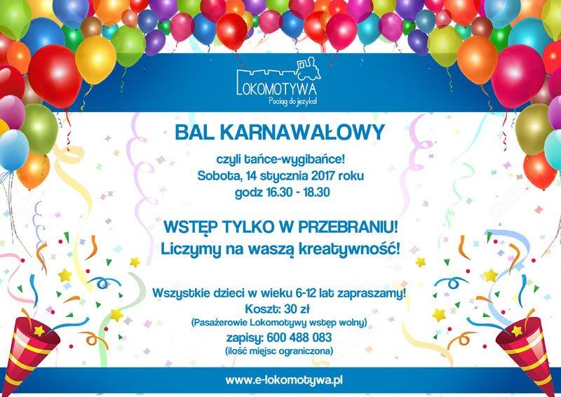 Bal karnawałowy z Lokomotywą w Łodzi