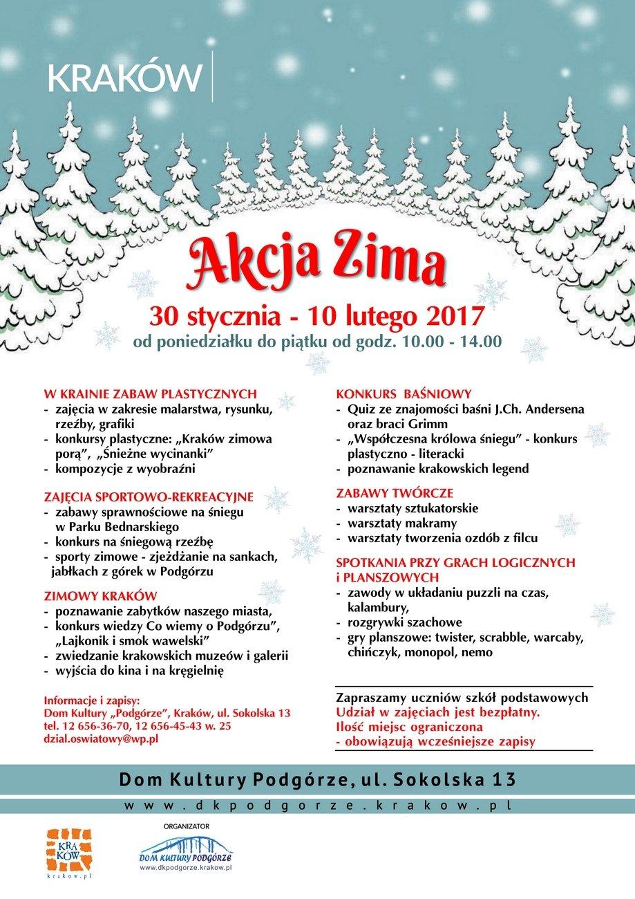 Program Akcji Zima z Domem Kultury Podgórze
