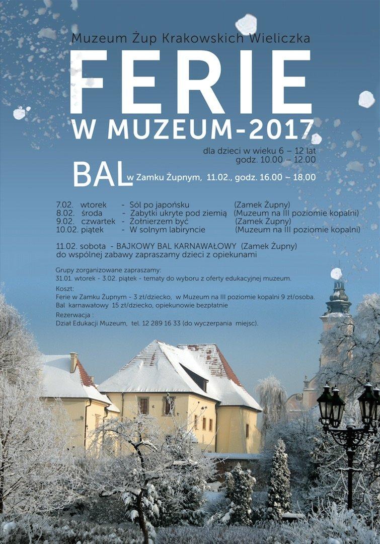 Wieliczka: Ferie w Muzeum 2017