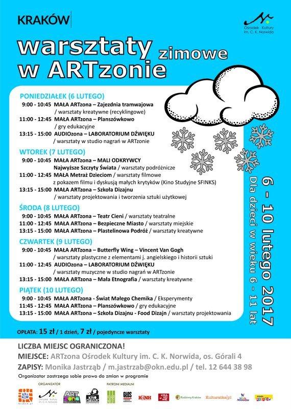 Warsztaty zimowe w ARTzonie OKN