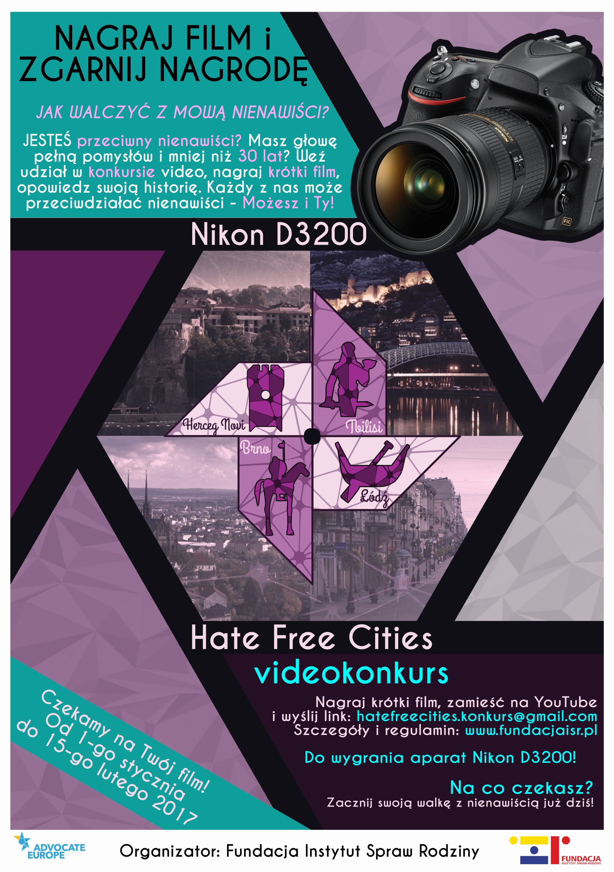 fundacja isr konkurs wideo hate free cities