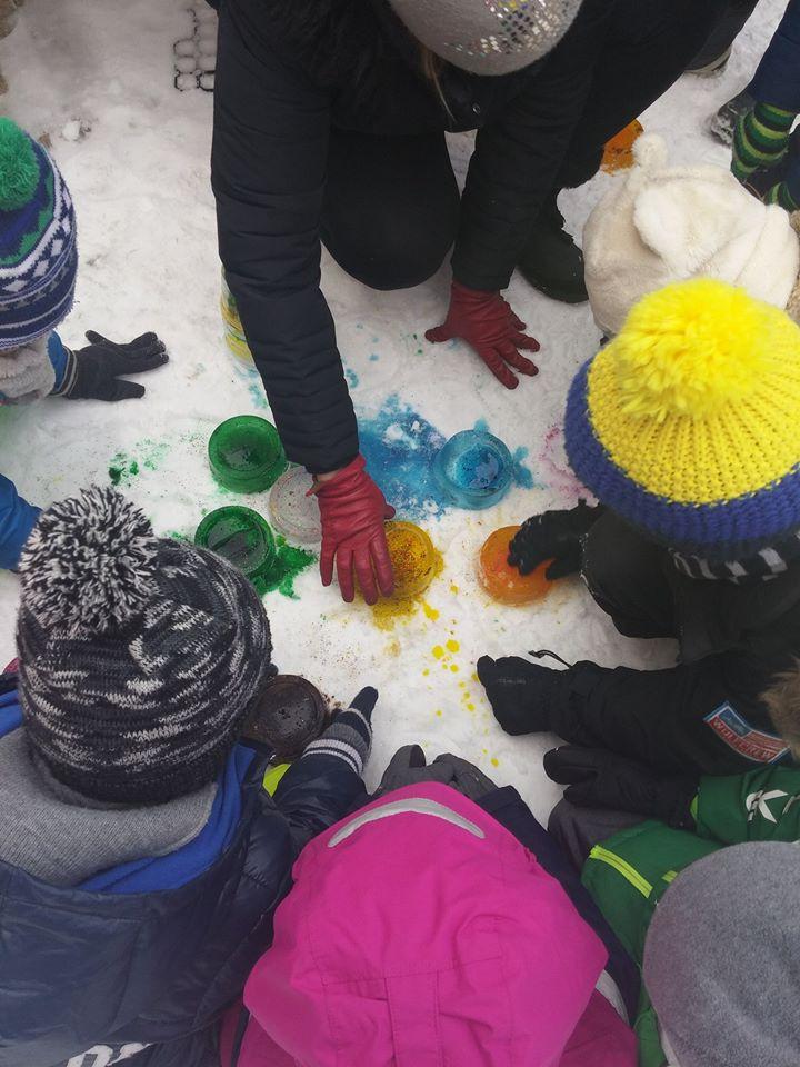 kolorowe bloki lodowe