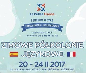 plakat półkolonie zima 2017 językowe