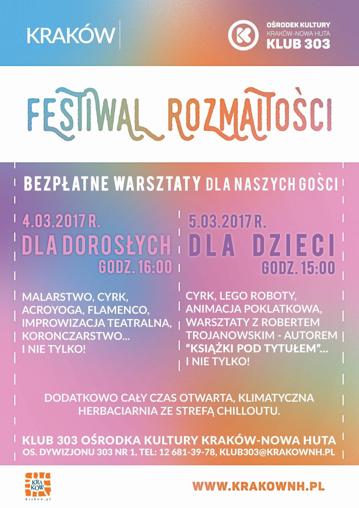 Festiwal Rozmaitości w Klubie 303
