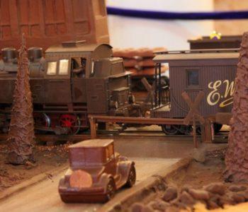 Makieta kolejowa z czekolady