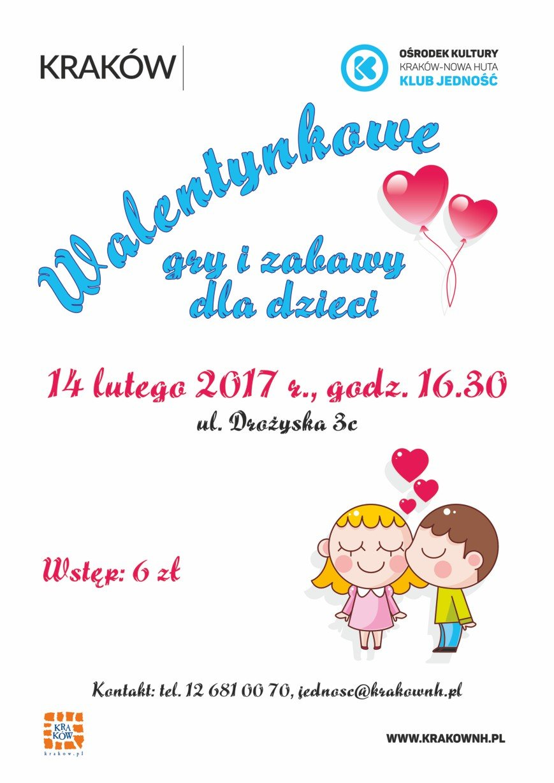 Walentynkowe spotkania dla dzieci