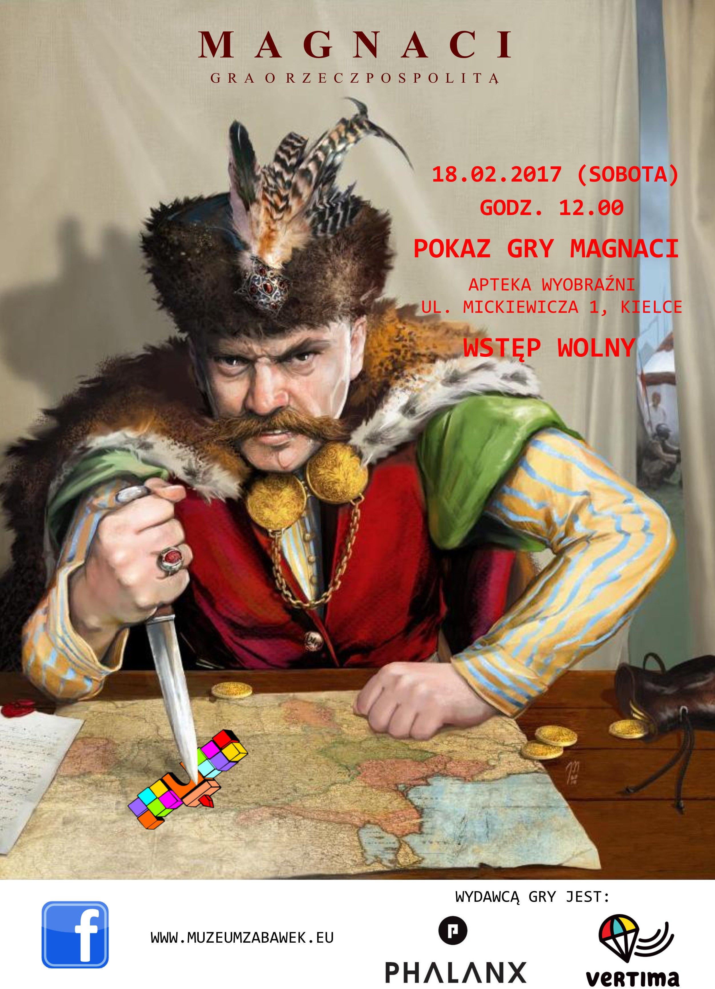 Magnaci - gra w Muzeum Zabawek i Zabawy w Kielcach
