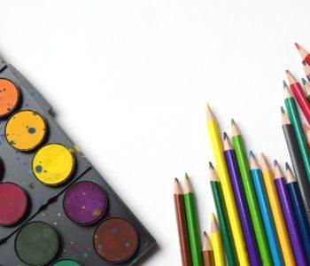 kredki farby