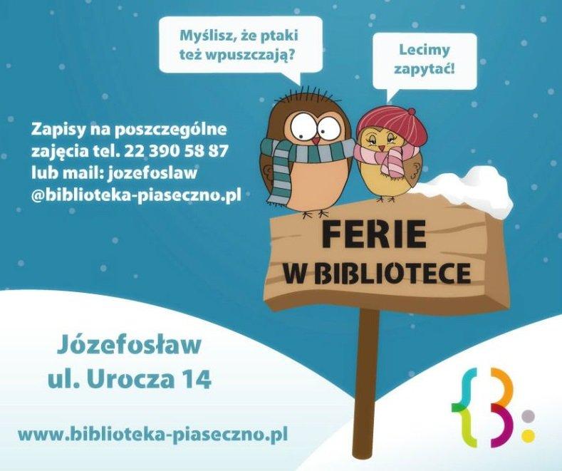 Ferie zimowe w Bibliotece w Józefosławiu