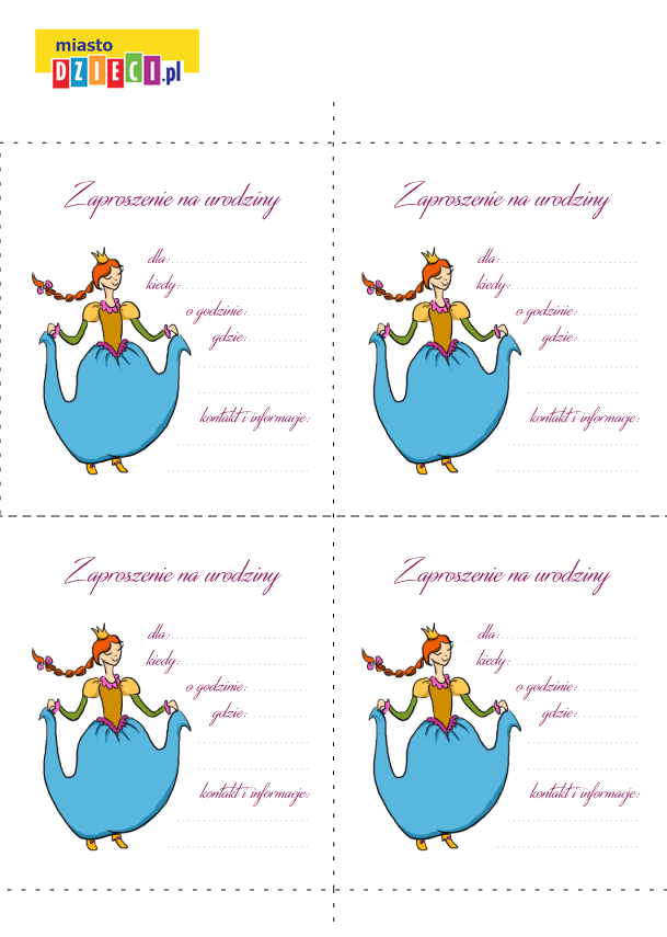 Zaproszenie na przyjęcie urodzinowe szablon