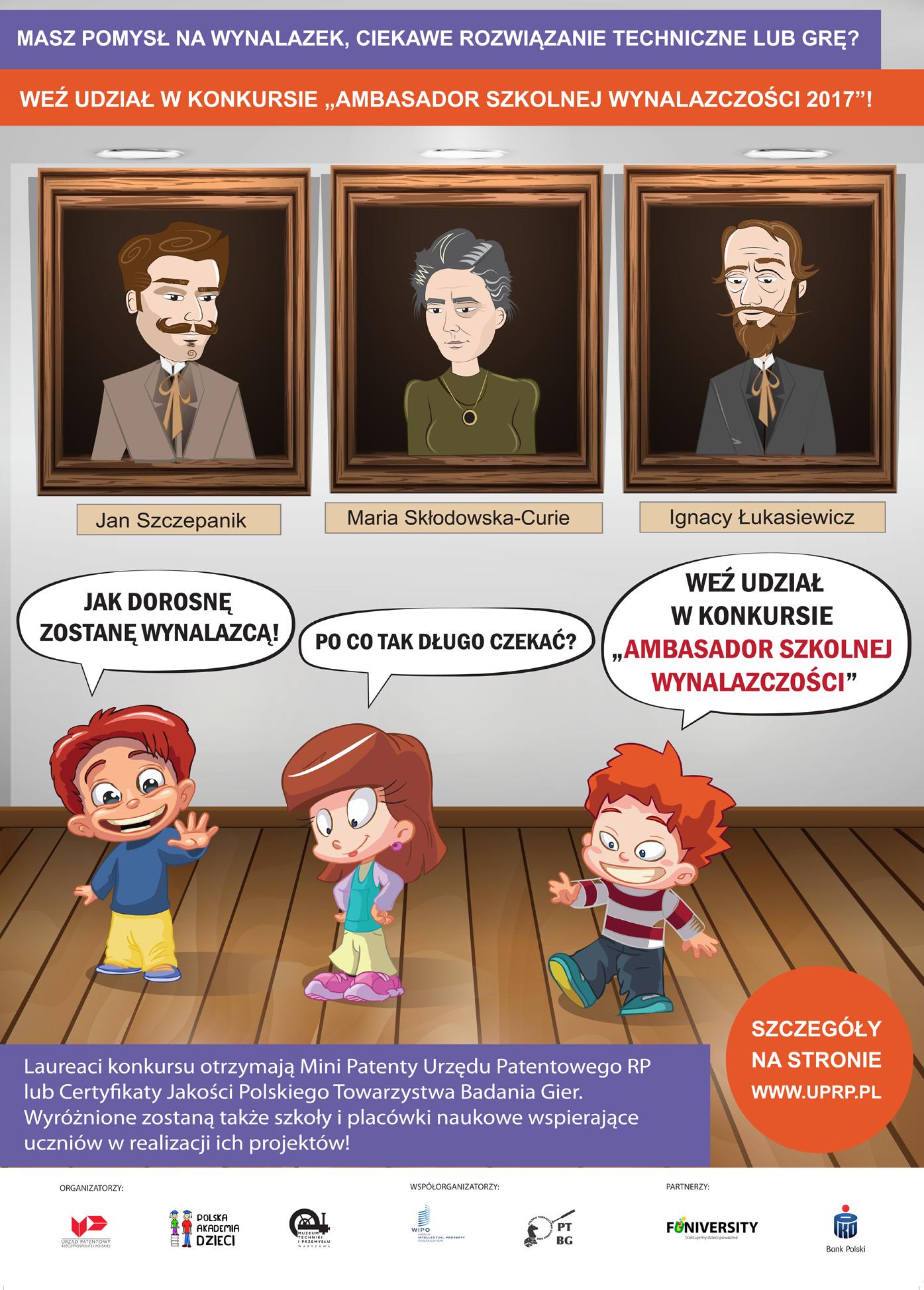 Konkurs Ambasador Szkolnej Wynalazczości 2017